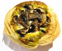 Mushroom Pesto & Leek Organic Tart