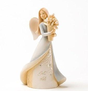 Get Well Mini Angel Figurine