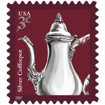 .03 Silver coffee pot stamp