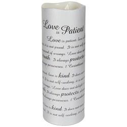 Love Is Patient Sonnet Candle