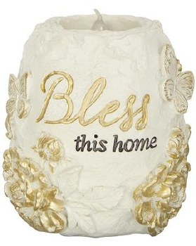 Bless This HomeTealiht Holder