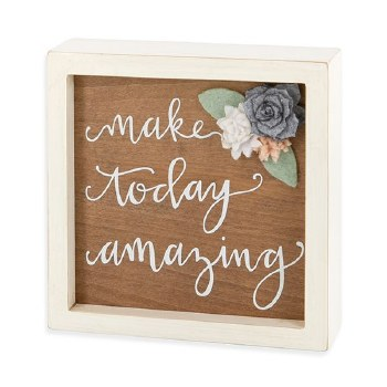 Wooden Box Sign with Felt Flow