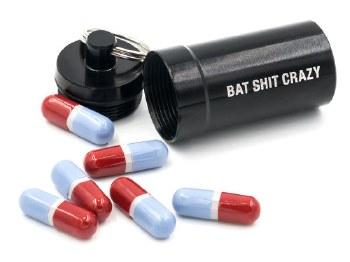 Bat Shit Crazy Pill Case