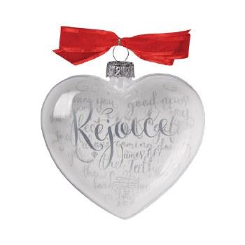 Glass Ornament-Rejoice