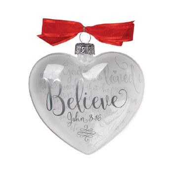 Glass Ornament-Believe