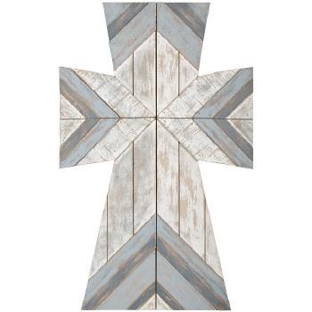 Slated Gray Boho Wall Cross