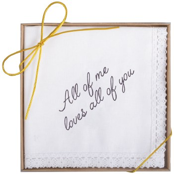 """""""All Of Me"""" Boxed Handkerchief"""