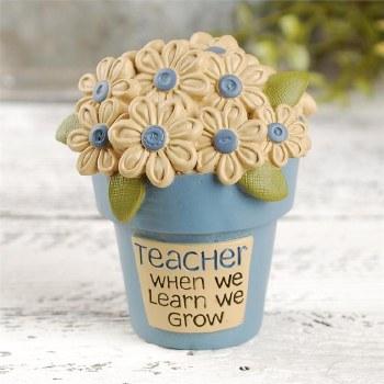 Teacher Flower Pot w/ Flowers