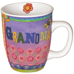 Painted With Love Grandma Mug