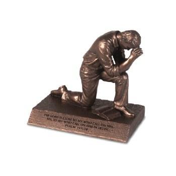 PRAYING MAN Figurine