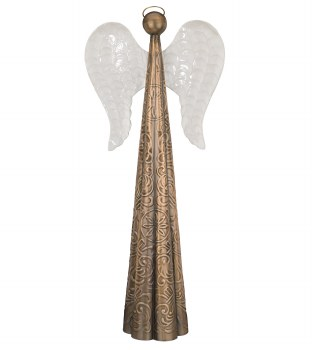 "Antique Bronze Angel 28"""