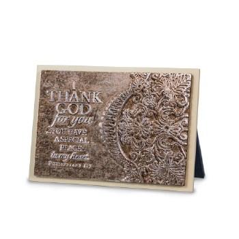 Lace-I Thank God for You Plq