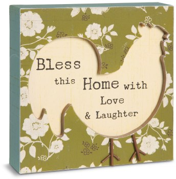 """Bless this Home - 4.5"""" Plaque"""