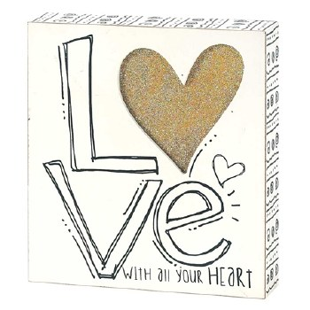 LOVE Tabletop Plaque