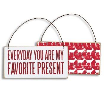 favorite present plaque