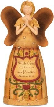 "With God - 9"" Angel Praying"