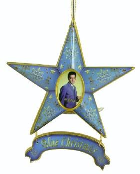 Elvis Star Orna Blue Christmas