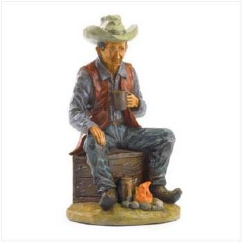 Campfire cowboy figurine