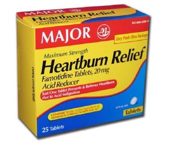 Major Heartburn Relief 25tab