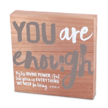 You Are Enough Wood Plaque