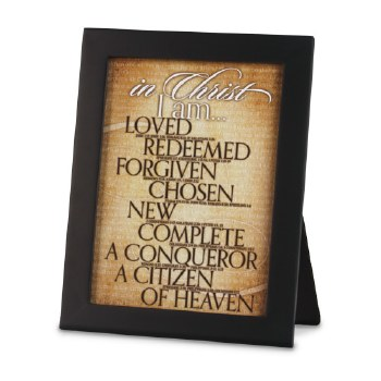 In Christ I Am Plaque