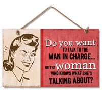Woman Who Knows Wood Plaque