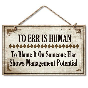 To Err is Human Wood Plaque