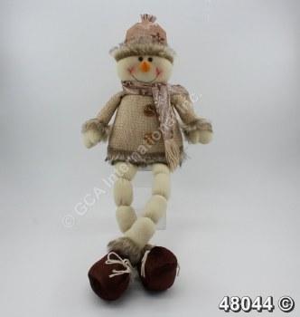 Snowman Shelf Sitter Tan Coat