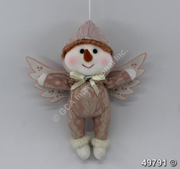 Snowman Angel Ornament Plush