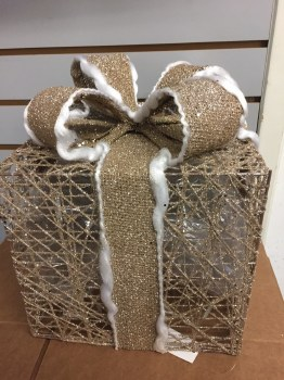 Gift Box Decor w/ Lights 3 Set