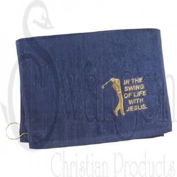 Golf Towel Swing Of Life Navy