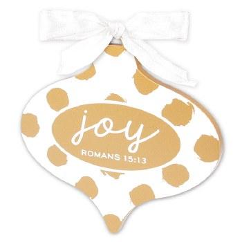 Ornament-Joy White/Gold