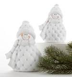 White Quilted Snowman