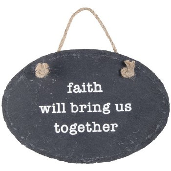 """Faith"" Slate Plaque With Stak"