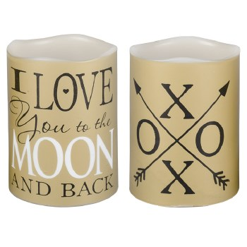 Moon XO Mini Flicker Candle