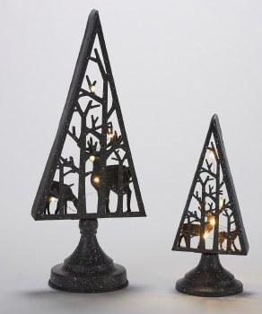 Metal Tree w/ Reindeer 2pc Set