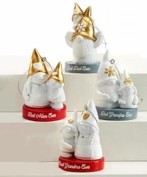 Gnome Family Ornaments Assorte