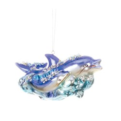 By The Shore Dolphin Ornament