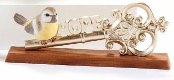 Bird on Key Figurine Hope