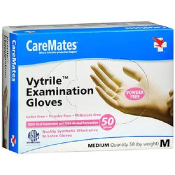 CAREMATES GLOVES VYT Med 50ct