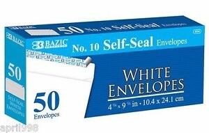 Bazic #10 Self Seal Env 50