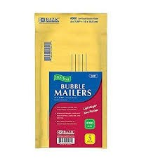 "Bazic Bubble Mailer 4""x7"" 5pk"