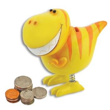 Yellow T-Rex Dinosaur Bank