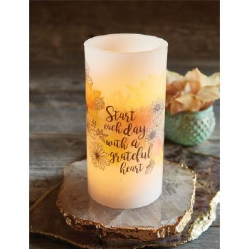 Grateful Heart - LED Candle