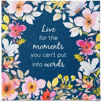 Moments Canvas Plaque w/ Easel