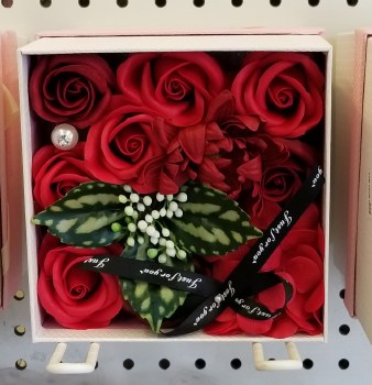 Soap Rose Box - Red