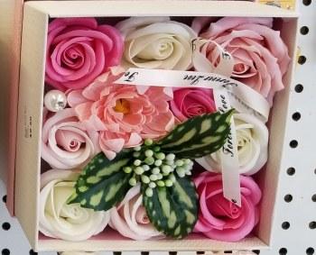Soap Rose Box - Pink