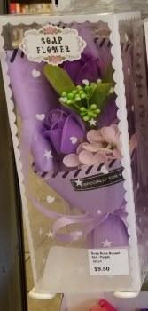 Soap Rose Bouqet 3pc - Purple