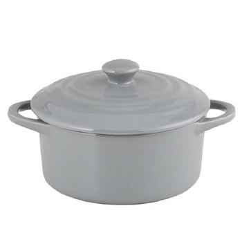 Grey Pot with Handles