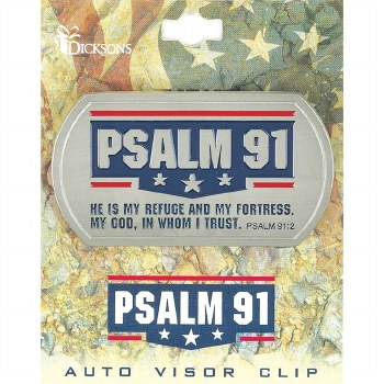 VISOR CLIP-PSALM 91 DOGTAG MET